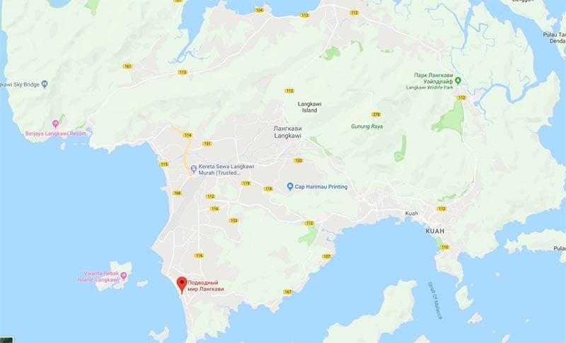 Оеанариум Лангкави на карте острова | Малайзия | Путешествия с AsiaPositive.com