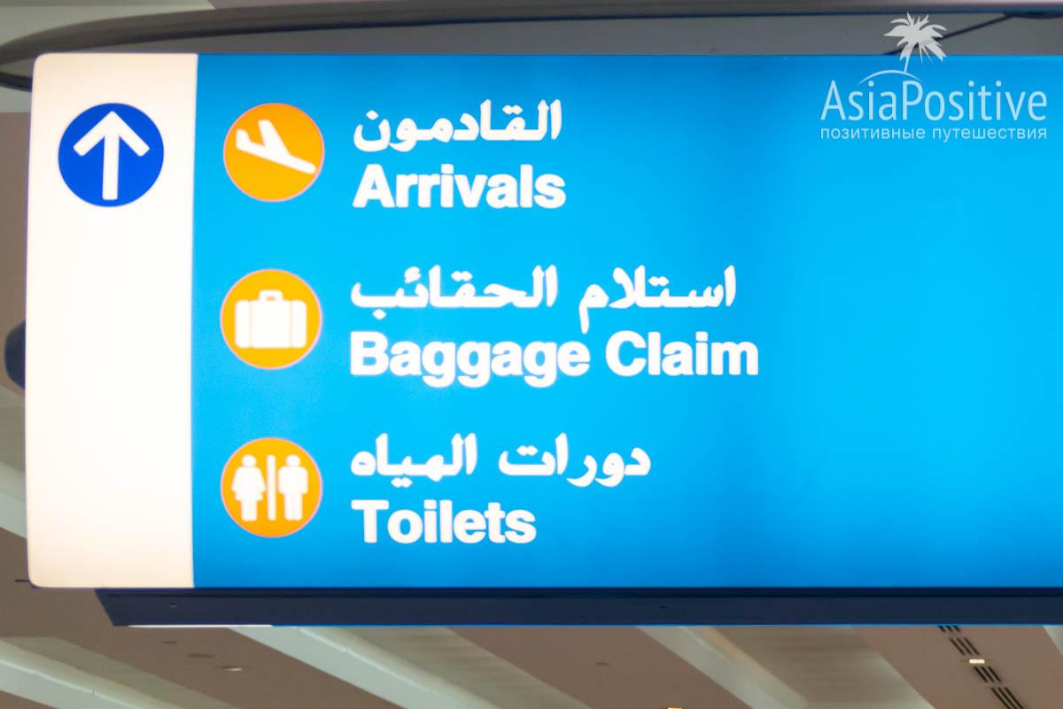 Указатель на багаж