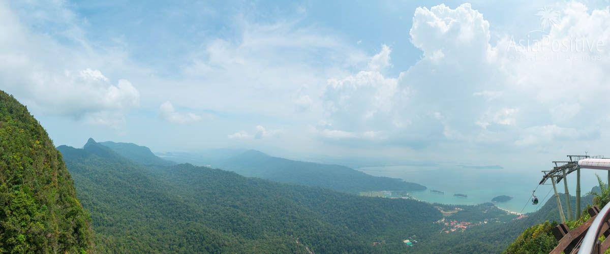 Вид со смотровой площадки канатной дороги на Лангкави | Отдых на Лангкави с детьми: интересные экскурсии и достопримечательности | Малайзия | Путешествия по Азии с AsiaPositive.com