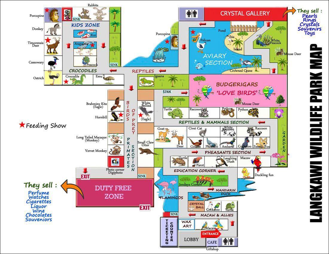 Карта контактного зоопарка Langkawi Wildlife Park | Отдых на Лангкави с детьми | Малайзия | Путешествия по Азии с AsiaPositive.com