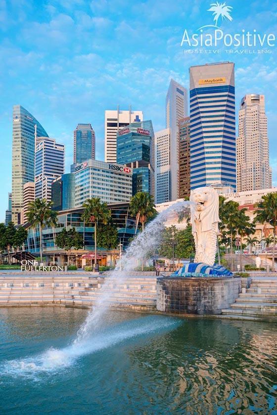 Статуя Мерлион и бизнес квартал Сингапура | Когда лучше ехать, как выбирать отель в Сингапуре, на сколько дней ехать, когда и как лучше покупать тур в Сингапур, и что выгоднее и удобнее тур или самостоятельно организованная поездка. | Туры в Сингапур: детальный гид по турам | Путешествие по Азии с AsiaPositive.com