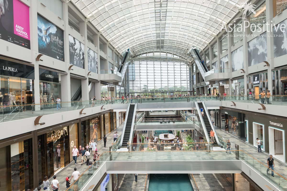 Торговый комплекс The Shoppes Marina Bay Sands | Экскурсии по Сингапуру с русскоговорящим гидом и не только