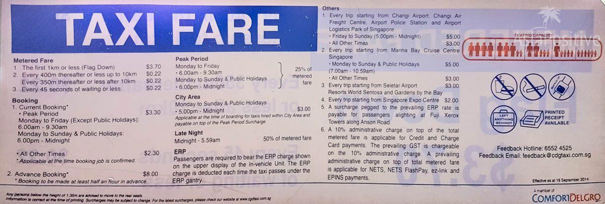 Стоимость такси в Сингапуре | Что лучше - взять такси в аэропорту Чанги или заказать трансфер из аэропорта в отель в Сингапуре. | Транспорт в Сингапуре | Путешествия по Азии с AsiaPositive.com