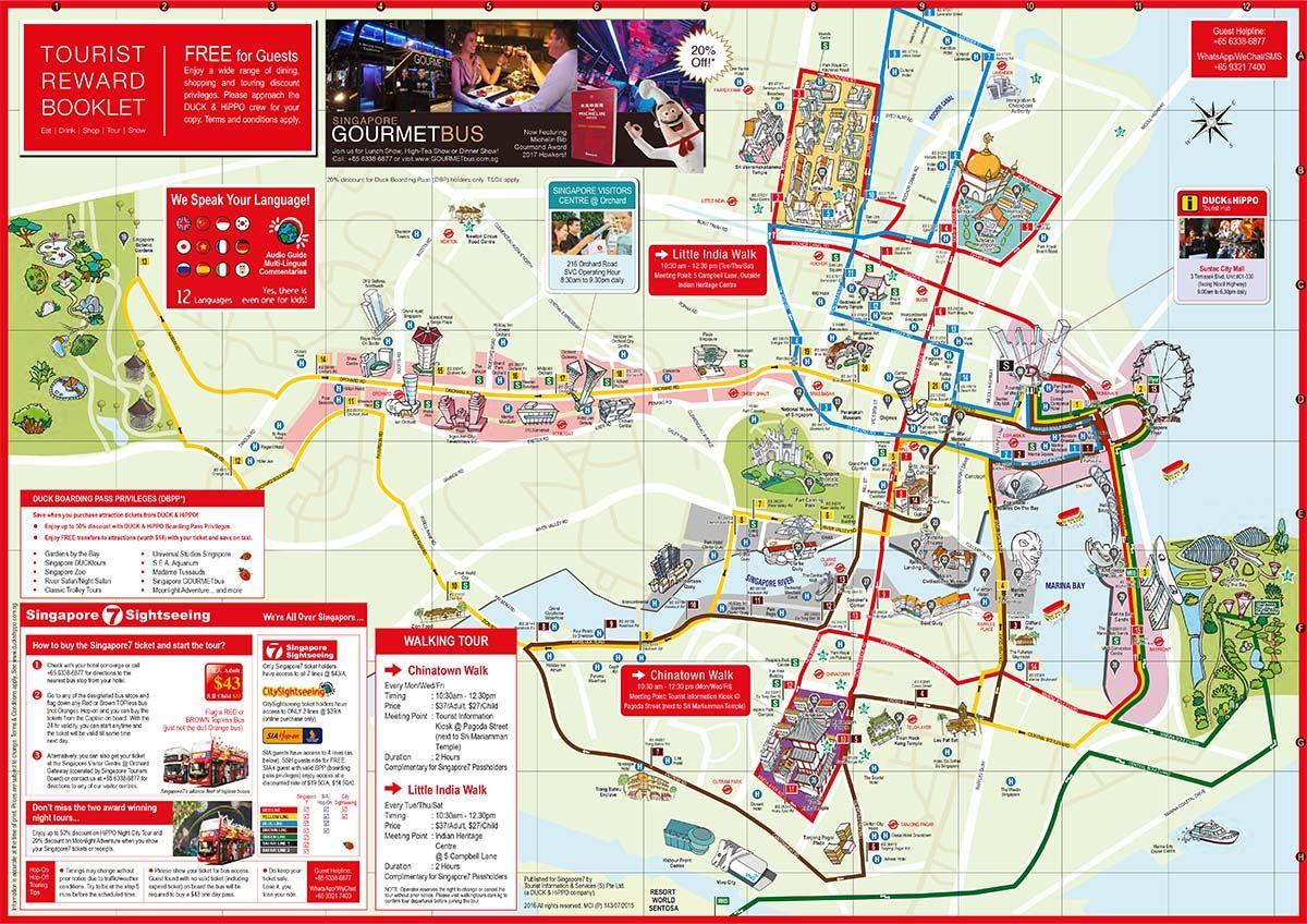 Маршруты туристического автобуса | Всё об автобусах в Сингапуре: цены и способы оплаты в обычных автобусах, маршруты туристических автобусов, их преимущества и недостатки. | Автобусы в Сингапуре: обычные рейсовые и туристические | Эксперт по путешествиям AsiaPositive.com