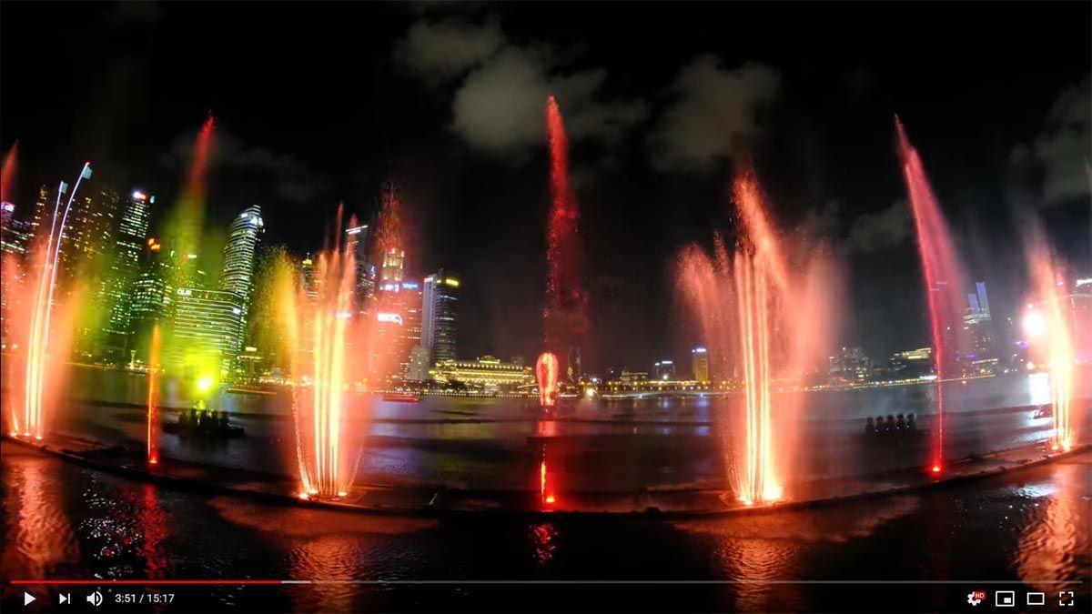 Видео ролик с музыкального и светового шоу фонтанов Spectra | Сингапур | Путешествия по Азии с AsiaPositive.com