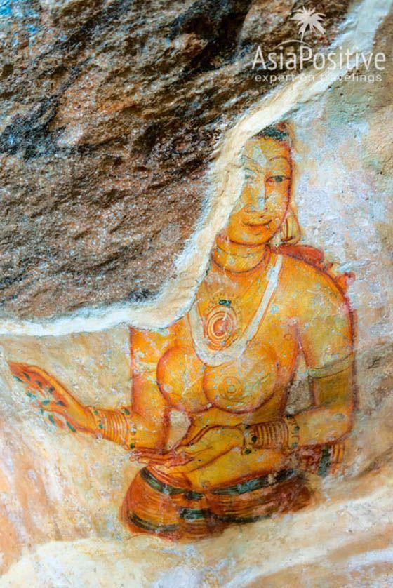 Некоторые фрески повреждены| Сигирия - одна из самых знаменитых достопримечательностей Шри-Ланки. Сигирия на карте, фото, информация о транспорте и отелях Сигирии. | Сигирия (Шри-Ланка): что посмотреть, как добраться, где остановиться | Путешествия по Азии AsiaPositive.com