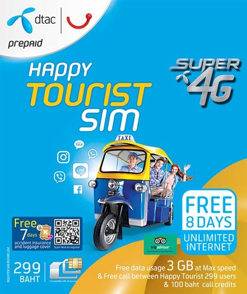 Popular tourist SIM card with unlimited internet | Internet in Thailand | Travelling in Asia with AsiaPositive.com