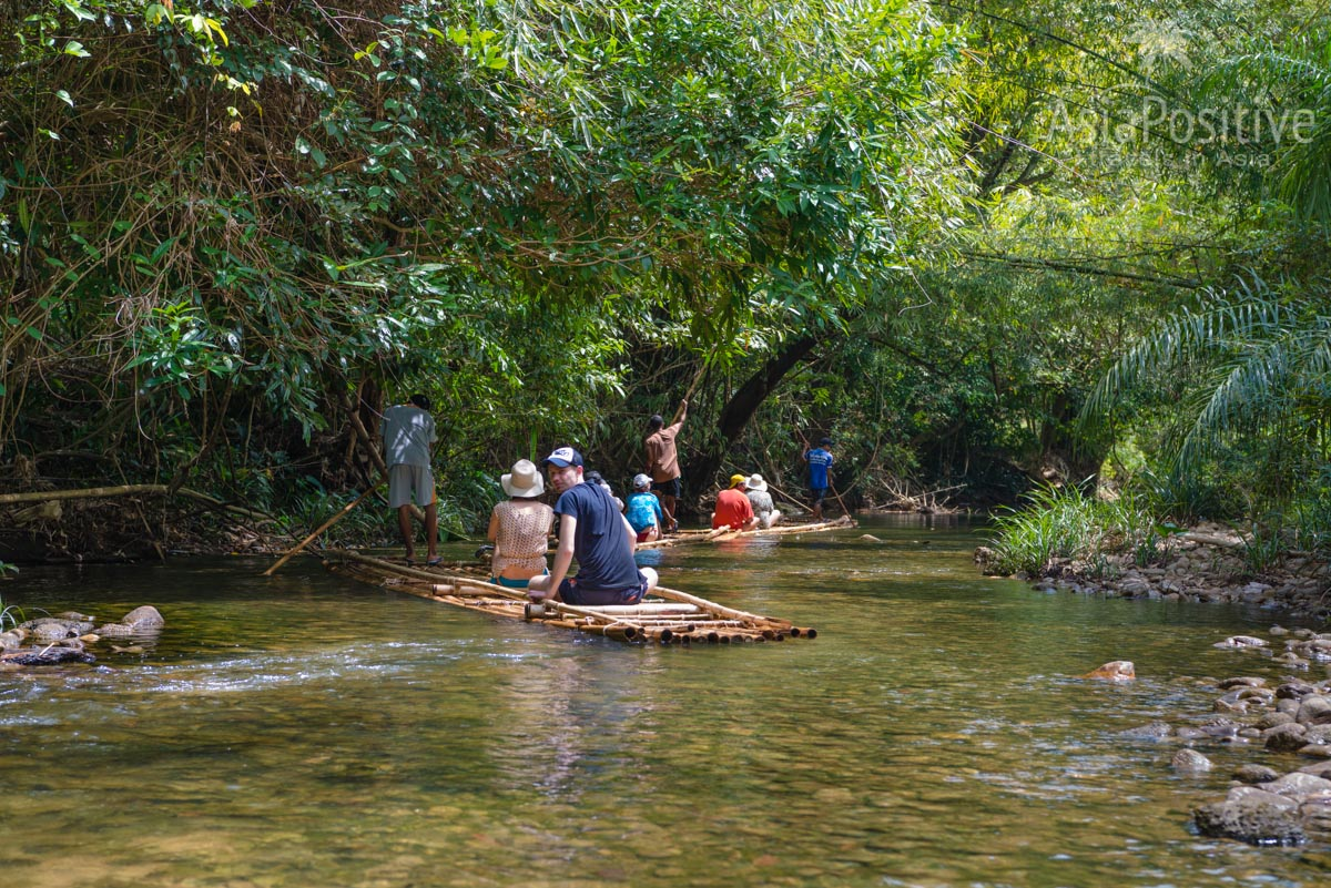 Сплав на бамбуковых плотах | Экскурсия с Пхукета в Као Лак | Таиланд с AsiaPositive.com