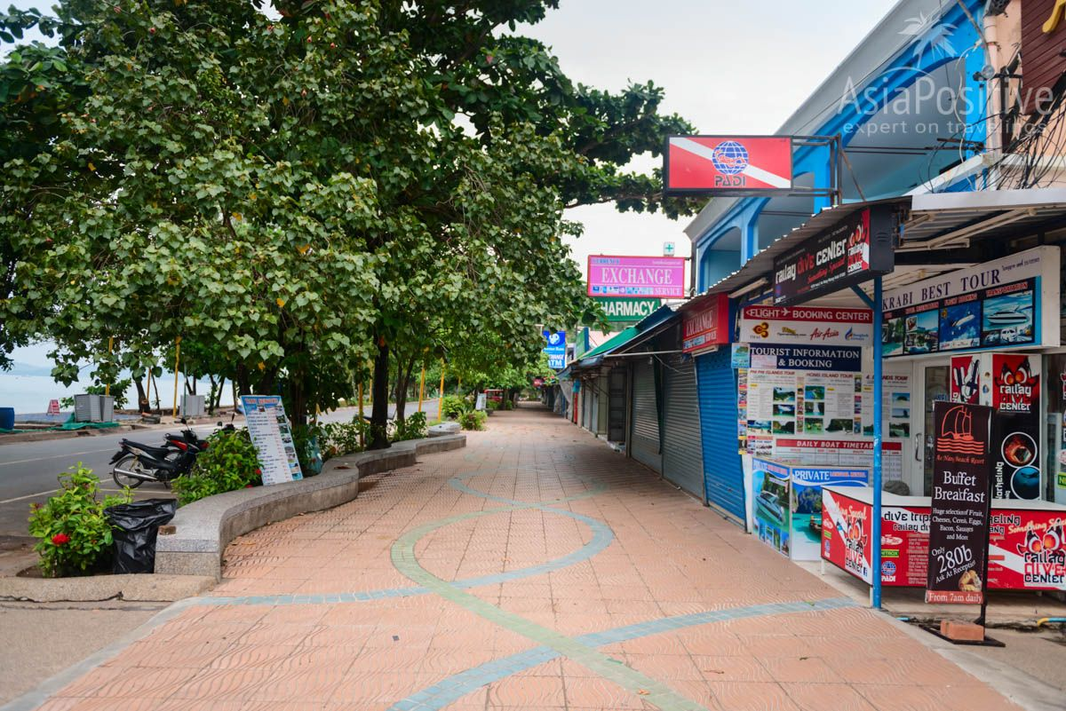 The main street of Ao Nang is deserted early in the morning, but after lunch lively life will be here | Krabi, Thailand | Travel in Asia with AsiaPositive.com