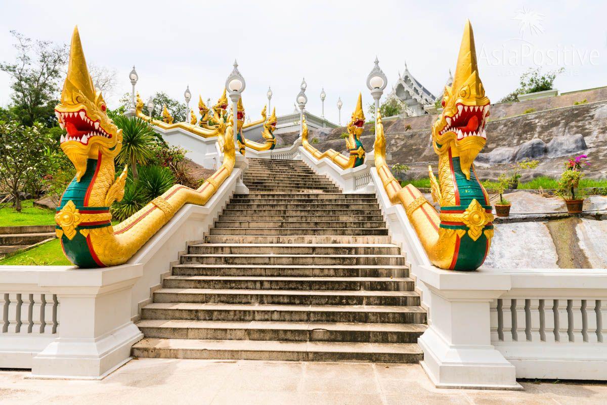 Лестница со змеями в Белом Храме | город Краби, Таиланд | Путешествия с AsiaPositive.com