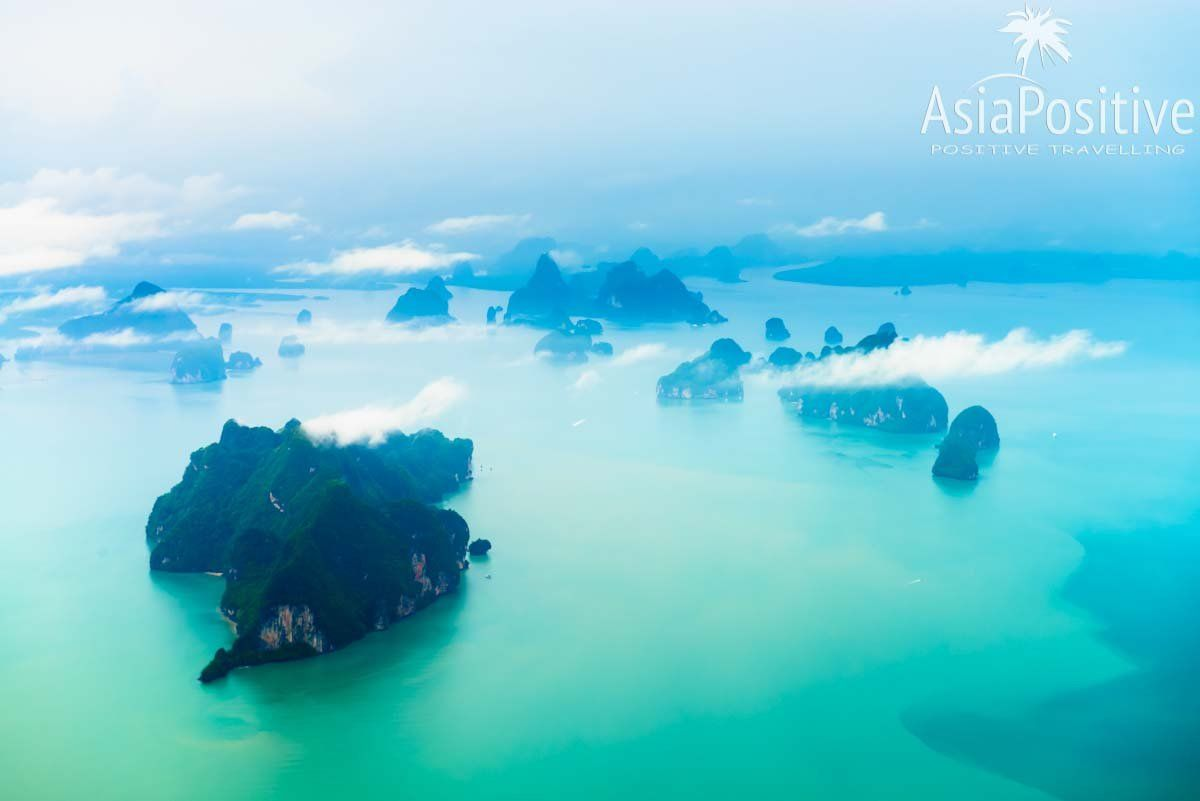 Внутренние перелёты по Таиланду - это возможность увидеть красивые виды из окна самолёта | Сколько стоит отдых в Таиланде из Украины | Путешествия по Азии от AsiaPositive.com
