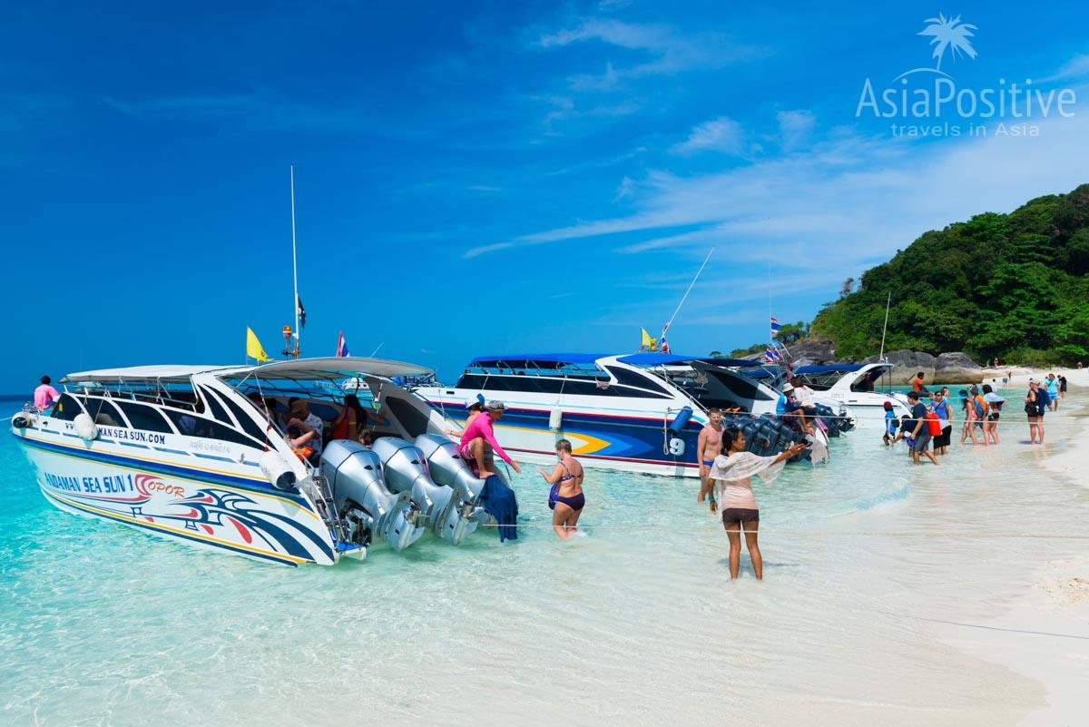 Процесс высадки / посадки пассажиров на Симиланах | Симиланы - райские острова Таиланда | Таиланд с AsiaPositive.com