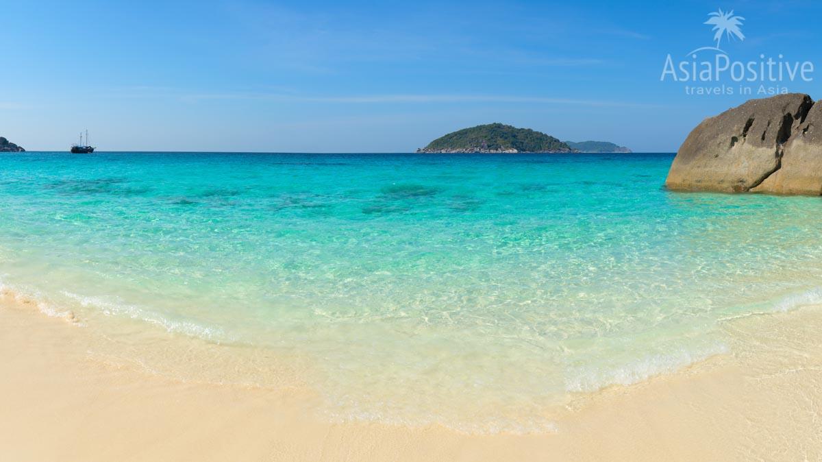 Симиланы - райские острова Таиланда благодаря красивым пляжам и морю