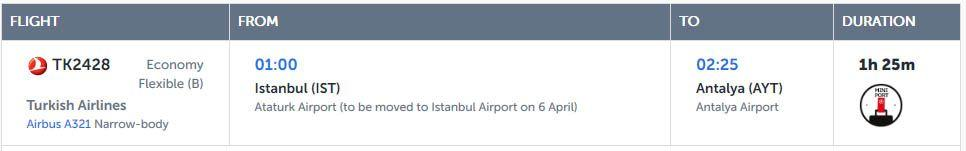 Message about all flights relocation to the New Airport on the Turkish Airlines' website | All three Istanbul airports in 2019 | Путешествия и отдых в Турции | AsiaPositive.com