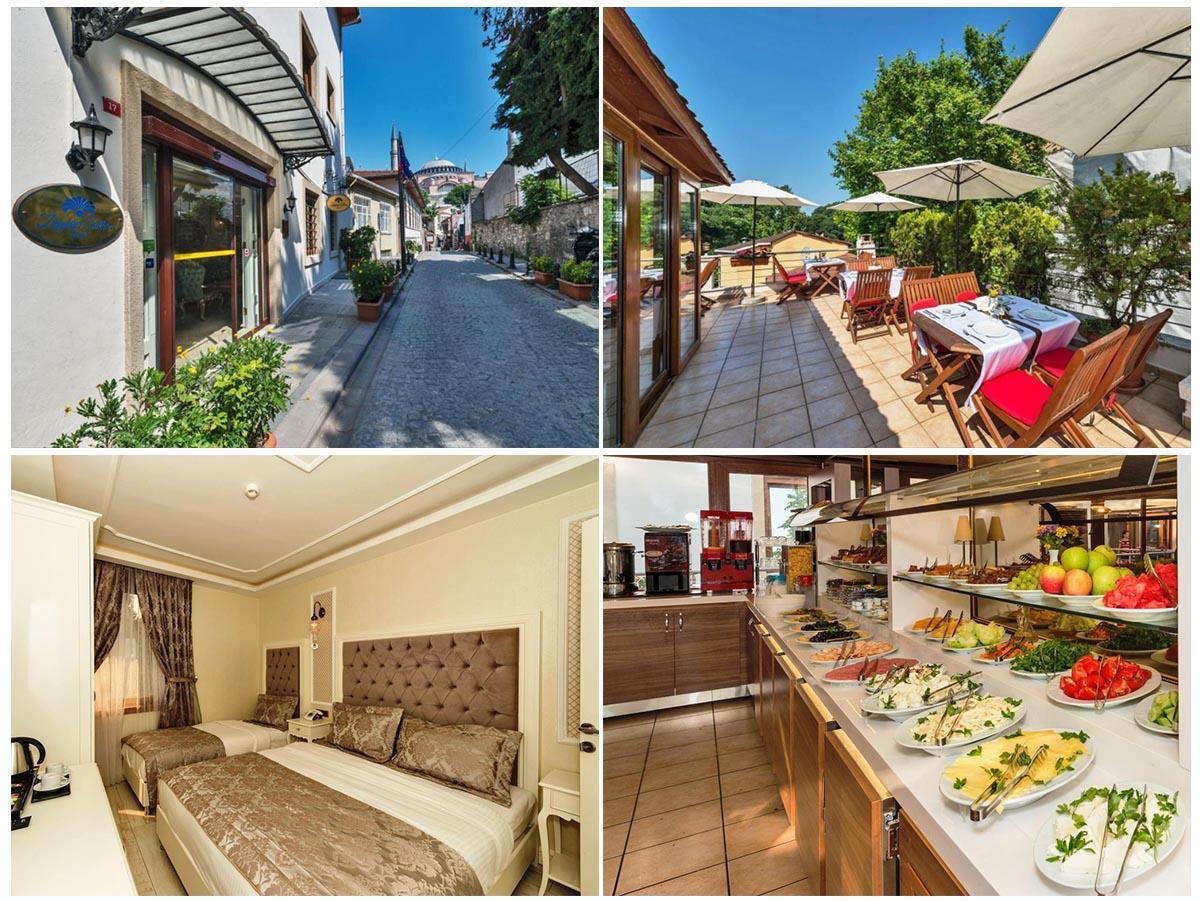 Zeynep Sultan Hotel - светлые номера и чаепитие на террасе | Недорогие отели в районе Султанахмет | Стамбул, Турция