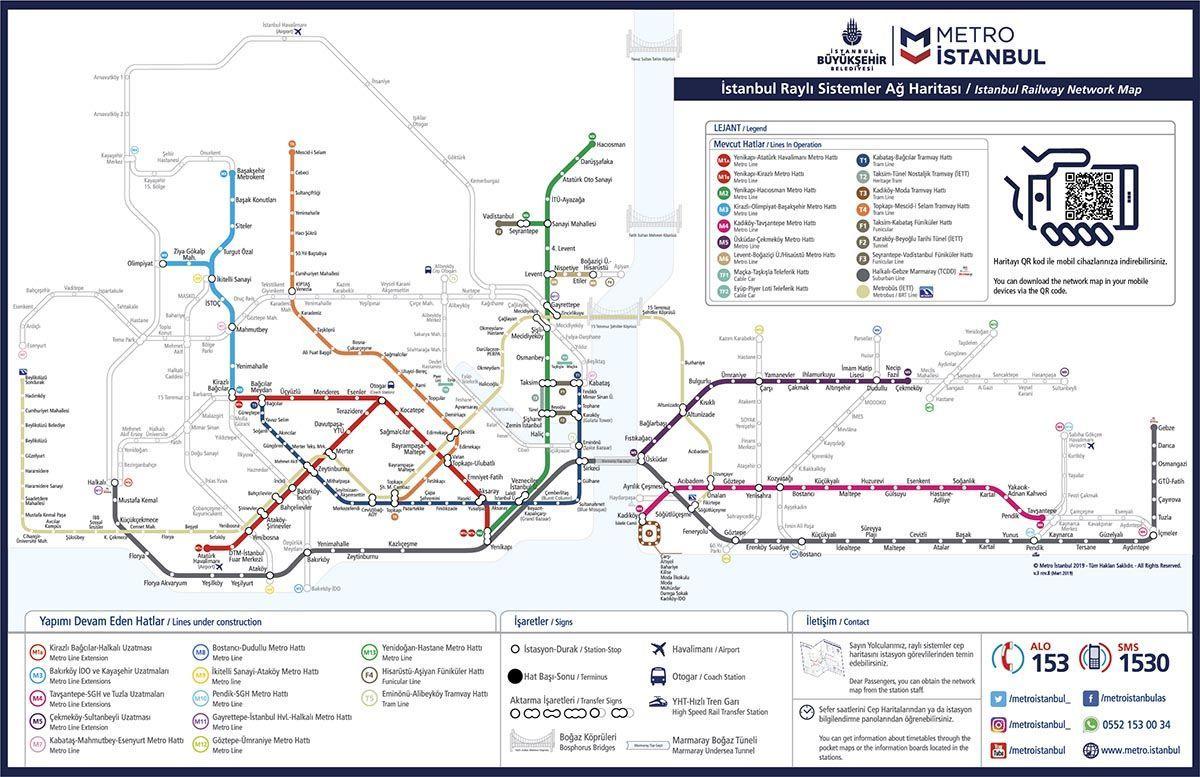 Карта метро и трамваев Стамбула с проектом метро до Нового Аэропорта | Как добраться из Нового Аэропорта Стамбула в центр города и отель | Путешествия и отдых в Турции | AsiaPositive.com