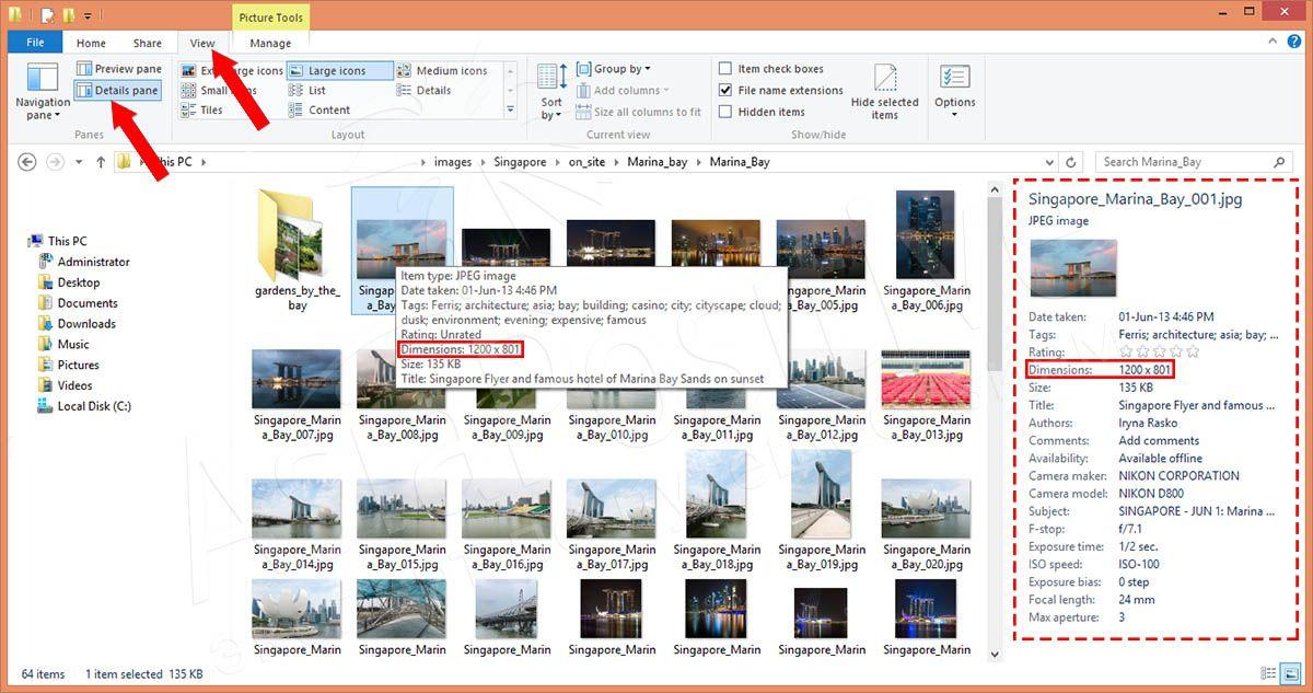 Как быстро узнать размер и вес нескольких фото | Фото и видео в путешествии | Справочник туриста | Эксперт по путешествиям AsiaPositive.com