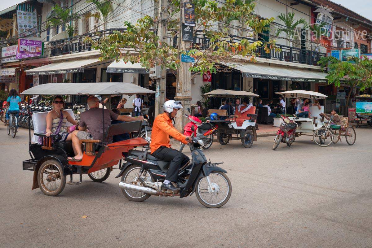 Тук-тук на улицах Сием Реапа (Камбоджа)   Путешествия с AsiaPositive.com