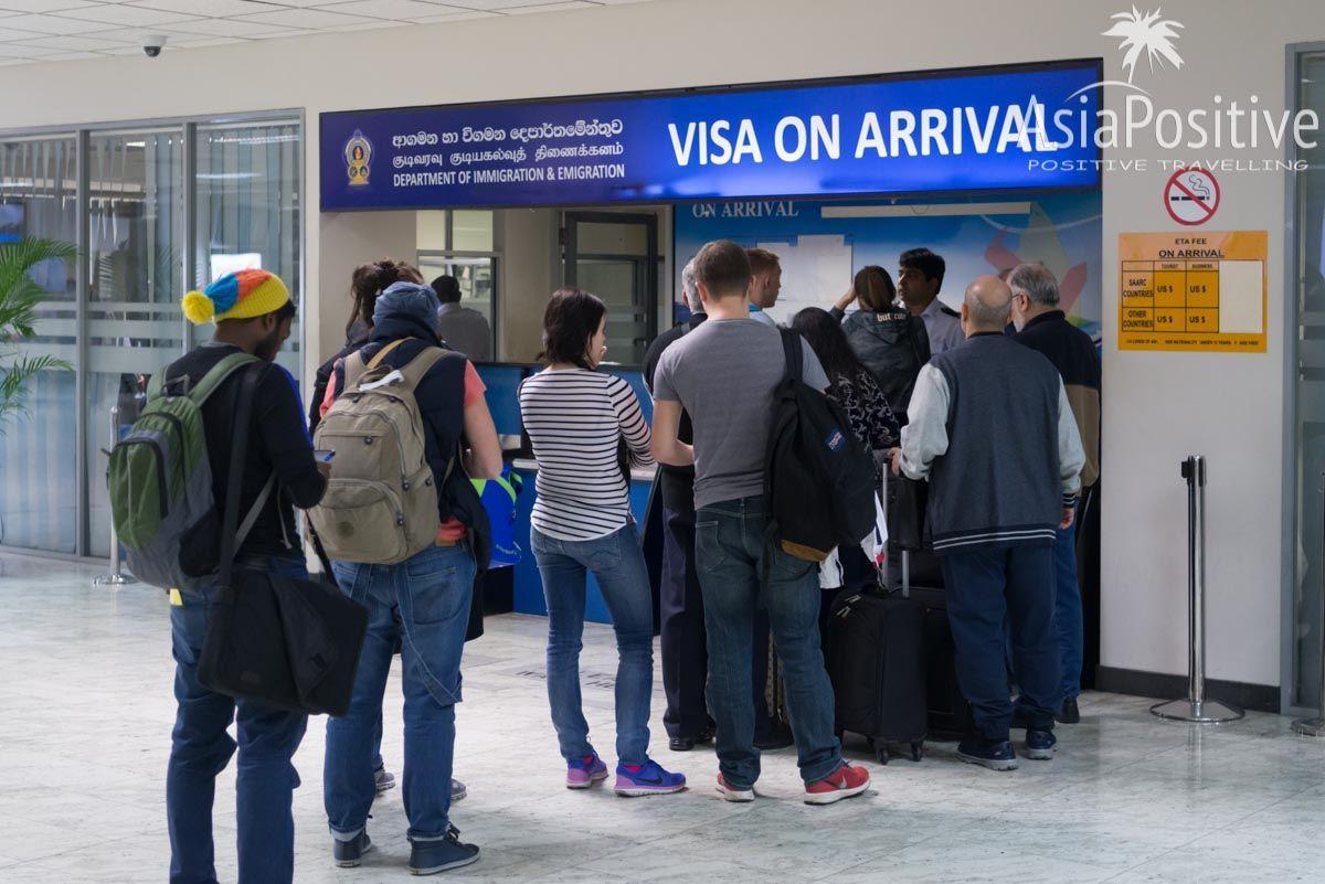 Очередь на визу по прилёту в аэропорту Коломбо | Нужна ли виза на Шри-Ланку туристам и как её получить | Путешествия AsiaPositive.com