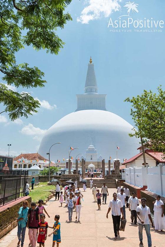 Дагоба Руванвели в Анурадхапуре (высота - 103 метра) | Что посмотреть на Шри-Ланке | Путешествия с AsiaPositive.com