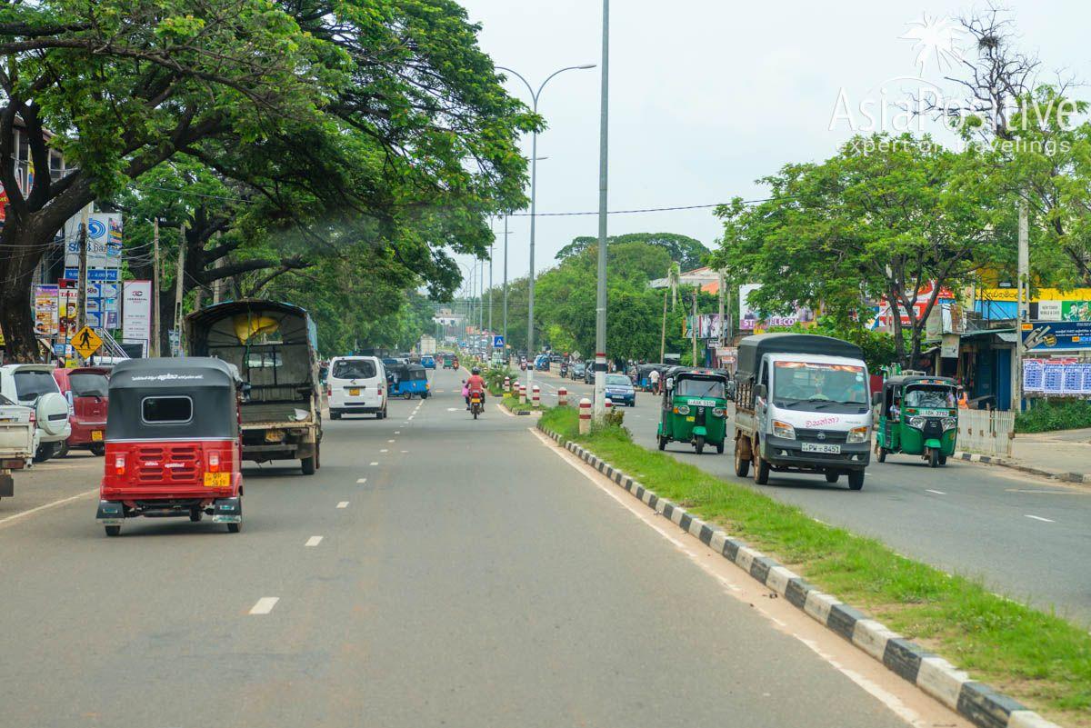 Тук-туки и другой транспорт на улицах Дамбуллы   Шри-Ланка   Путешествия AsiaPositive.com