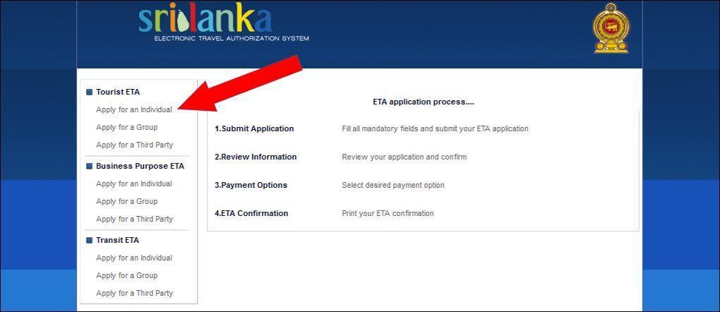 Выбор типа визы и заявления | Виза на Шри-Ланку онлайн: пошаговая инструкция и образец заполнения | Путешествия с AsiaPositive