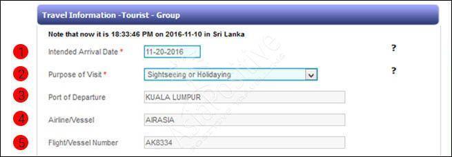 travel information - информация по поездке | Виза на Шри-Ланку онлайн: пошаговая инструкция и образец заполнения | Путешествия с AsiaPositive