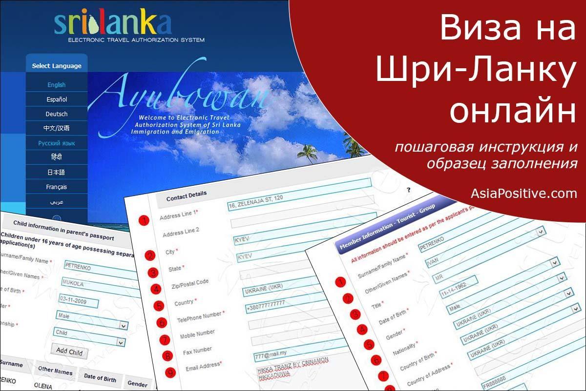 Виза на Шри-Ланку онлайн: пошаговая инструкция и образец заполнения | Путешествия с AsiaPositive.com