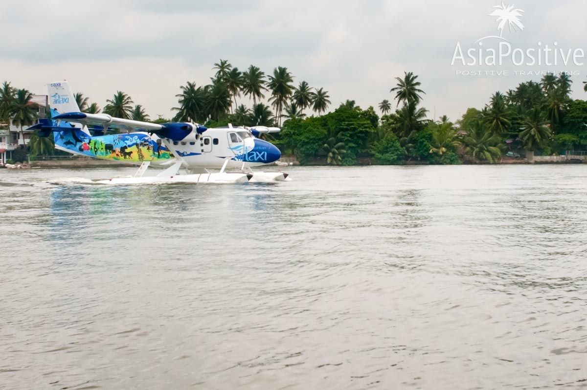 Гидроплан во время посадки в Бентоте | Аэропорты Шри-Ланки | Путешествия AsiaPositive.com