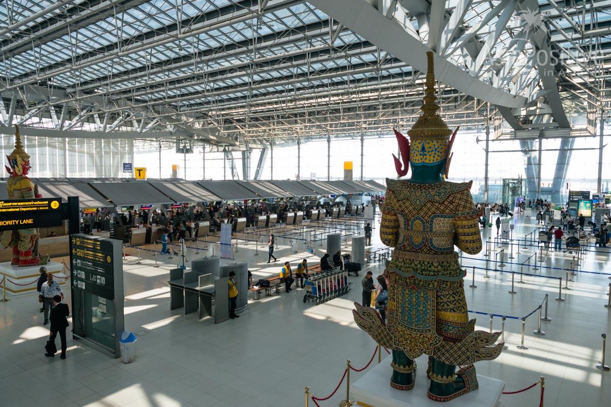 Зона вылета в аэропорту Суварнабхуми | Бангкок, Таиланд | Путешествия AsiaPositive.com