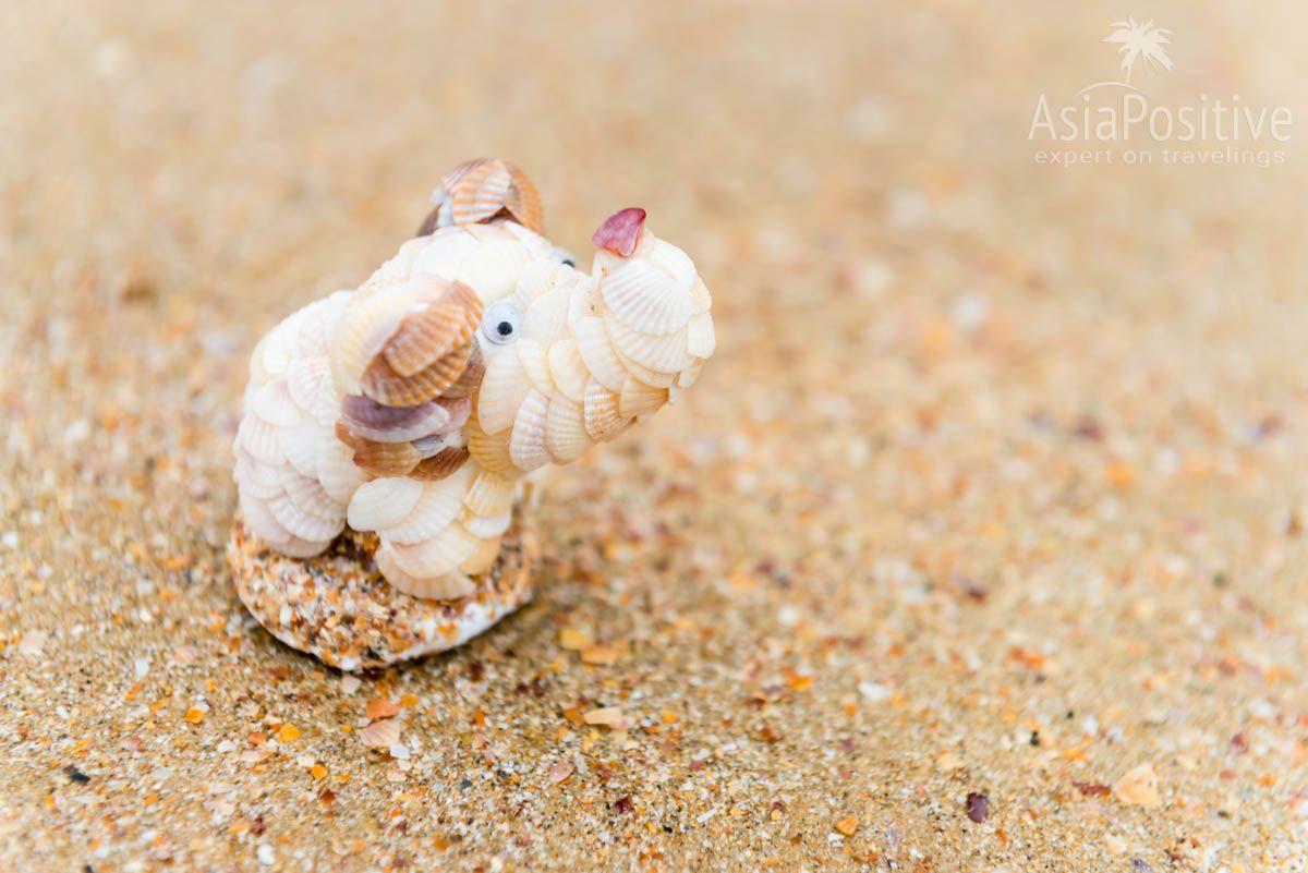 Сувенир из ракушек на пляже Ао Нанг (Краби, Таиланд) | Путешествия Asiapositive.com