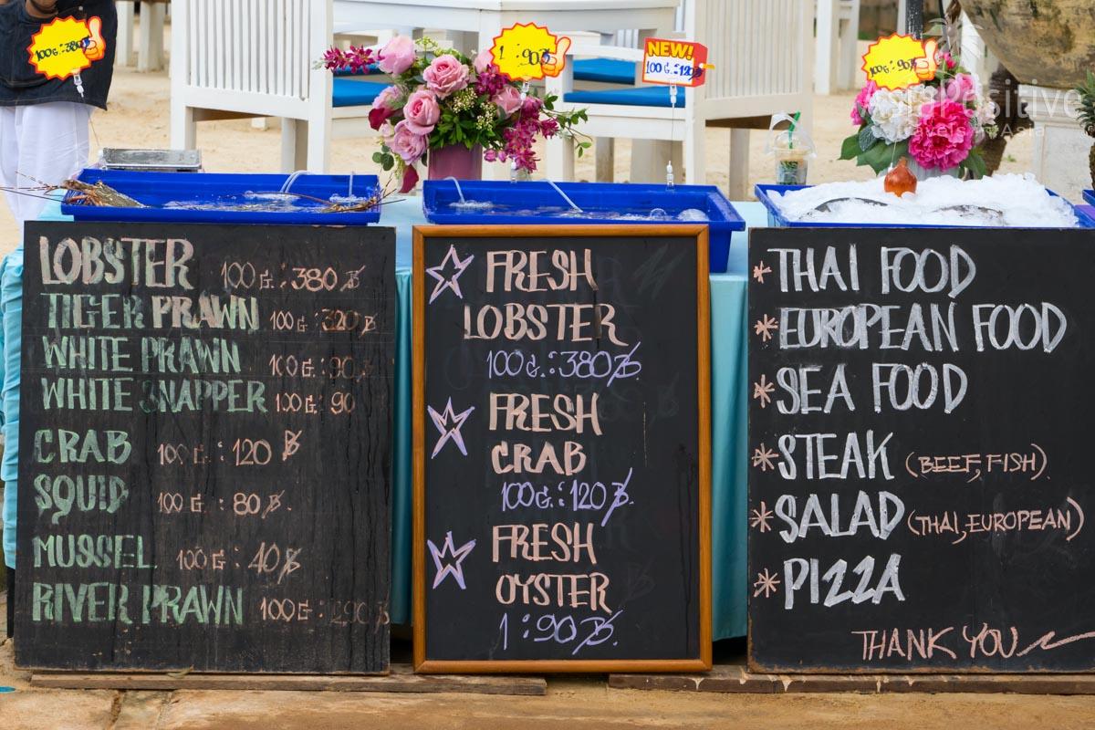 Цены на морепродукты в кафе на Пхукете | Сколько стоит пожить в Таиланде | Путешествия  AsiaPositive.com