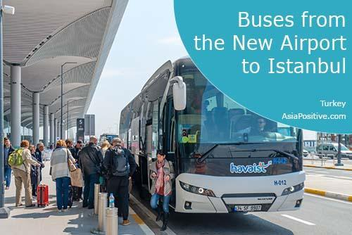 Buses from New Airport to Istanbul or back