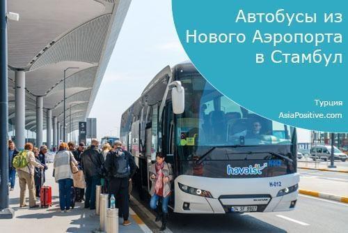 Автобусы из Нового Аэропорта в Стамбул и обратно