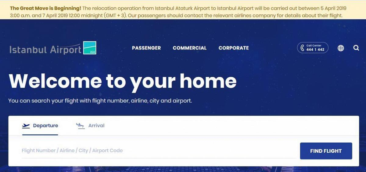 The message on the transfer of all flights from Ataturk Airport | All three Istanbul airports in 2019 | Travel and leisure in Turkey | AsiaPositive.com
